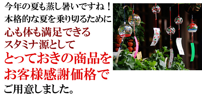 今年の夏も暑いですね!本格的な夏を乗り切るためにスタミナ源としての仙台牛商品を特別価格でご用意しました。