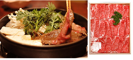 仙台牛すき焼き・しゃぶしゃぶ用霜降り肉